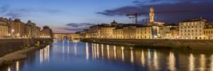 Włochyy, Florencja Ponte Vecchio, panorama6