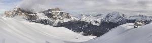 Marmolada, widok z Col Rodella 2017-02-08 panorama1