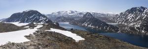 Norwegia, Besseggen i jezioro Gjende 2016-06-05 panorama