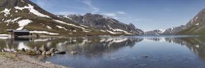 Norwegia, jezioro Gjende 2016-06-05 panorama