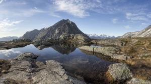 Norwegia,szczyt Litlefjellet 2016-06-06 panorama4