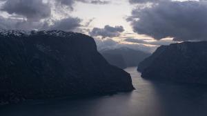 Norwegia, Aurlandsfjord, Stegastein 2016-06-07 panorama