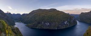 Norwegia, Geirangerfjord 2017-09-21 panorama1