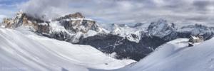 Piz Boe i Marmolada, widok z Col Rodella 2017-02-08 panorama1