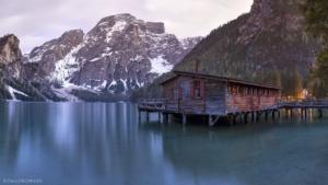 Włochy, Lago di Braies 2018-05-03 panorama6a